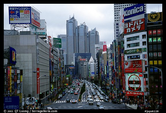 Avenue in Shinjuku. Tokyo, Japan