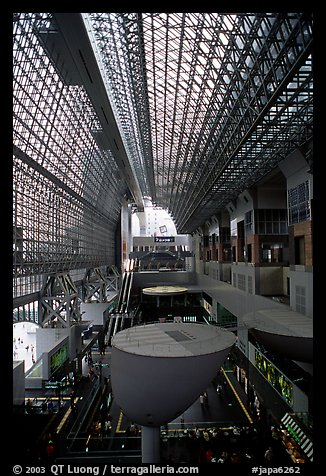 Train station hall. Kyoto, Japan (color)