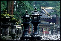 Sacred urns in Tosho-gu Shrine. Nikko, Japan ( color)
