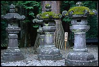Sacred urns in Tosho-gu Shrine. Nikko, Japan