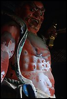 Fearsome statue of Deva King at Omote-mon Gate. Nikko, Japan (color)