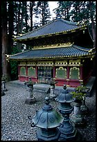 Urns and pavilion. Nikko, Japan