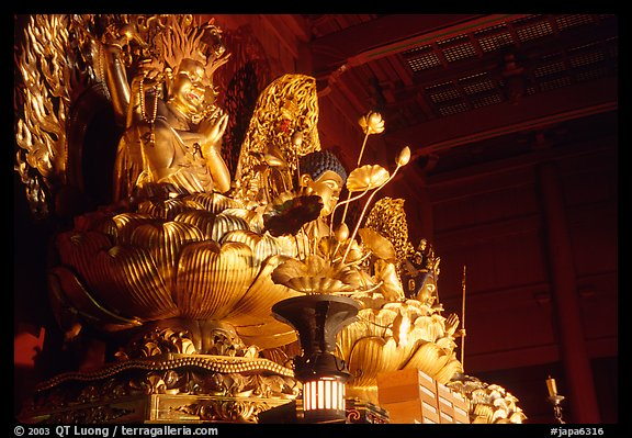 Statue of buddhist goddess. Nikko, Japan