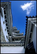 Architectural detail of the castle. Himeji, Japan ( color)