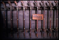 Rack of period riffles. Himeji, Japan (color)