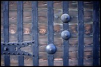 Detail of heavy wooden door. Himeji, Japan ( color)