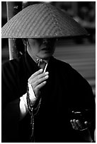 Buddhist monk. Tokyo, Japan ( black and white)