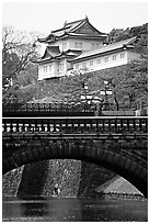 Imperial Palace. Tokyo, Japan ( black and white)