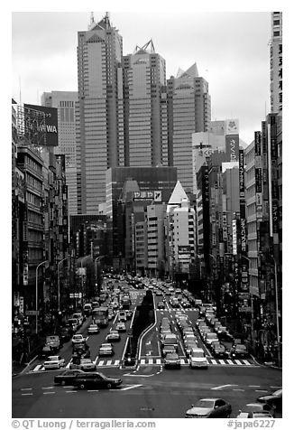 black and white picture photo high rises in shinjuku tokyo japan. Black Bedroom Furniture Sets. Home Design Ideas