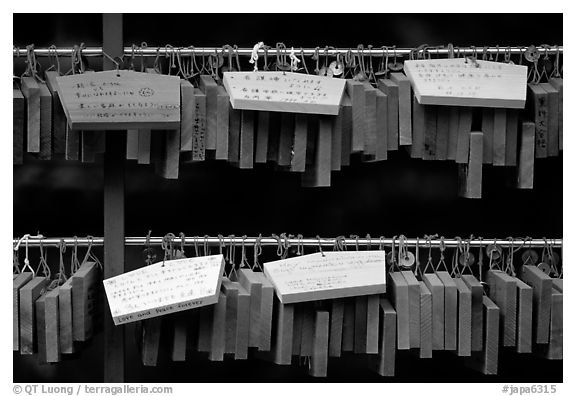 Prayer tablets. Nikko, Japan (black and white)