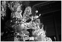 Statue of buddhist goddess. Nikko, Japan ( black and white)
