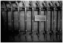 Rack of period riffles. Himeji, Japan ( black and white)