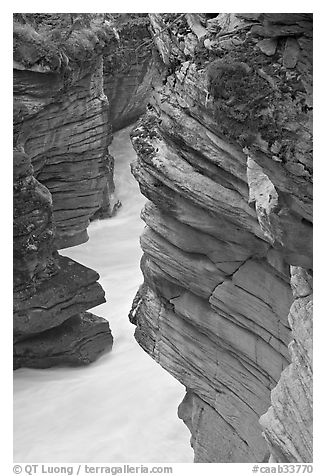 Gorge at the base of Athabasca Falls. Jasper National Park, Canadian Rockies, Alberta, Canada