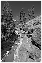 Red Rock Canyon. Waterton Lakes National Park, Alberta, Canada (black and white)