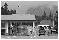 Border Crossing. Waterton Lakes National Park, Alberta, Canada ( black and white)