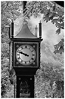 Steam clock. Vancouver, British Columbia, Canada (black and white)