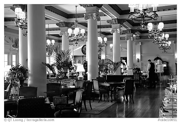 Dining hall of Empress hotel. Victoria, British Columbia, Canada