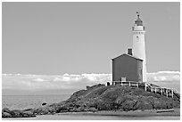 Oldest lightouse on the Canadian West Coast. Victoria, British Columbia, Canada ( black and white)