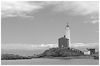 Fisgard Lighthouse. Victoria, British Columbia, Canada ( black and white)