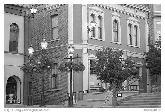 Bastion square. Victoria, British Columbia, Canada (black and white)