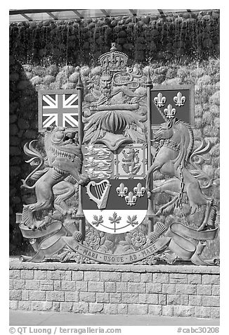 Shield of Canada. Victoria, British Columbia, Canada