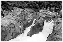 Falls. Vancouver Island, British Columbia, Canada ( black and white)