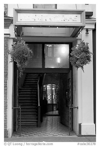 Entrance of Market Square. Victoria, British Columbia, Canada (black and white)