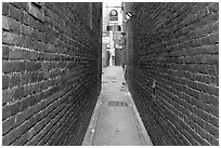 Fan Tan Alley, Chinatown. Victoria, British Columbia, Canada (black and white)