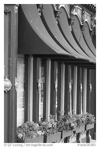 Pub facade detail. Victoria, British Columbia, Canada (black and white)