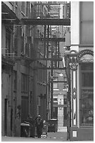 Alley in Gastown. Vancouver, British Columbia, Canada ( black and white)