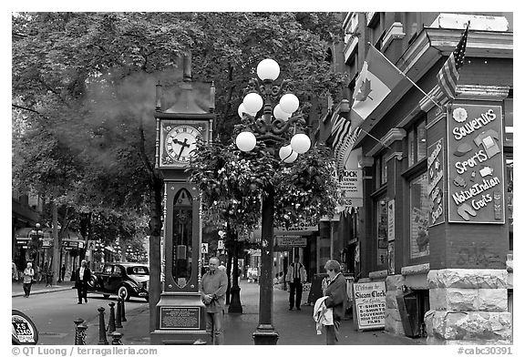 Steam clock in Water Street. Vancouver, British Columbia, Canada