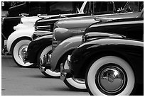 Classic car show. Vancouver, British Columbia, Canada (black and white)