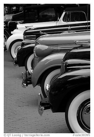 Black And White Picture Photo Classic Car Show Vancouver British Columbia Canada