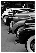 Classic car show. Vancouver, British Columbia, Canada ( black and white)