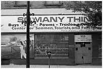 Pawn shop, Gastown. Vancouver, British Columbia, Canada ( black and white)