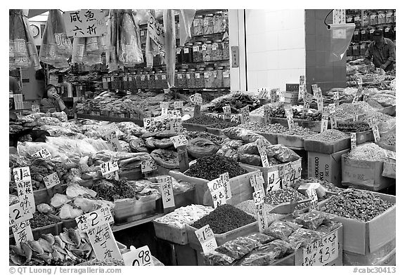 Chinese medicinal goods in Chinatown. Vancouver, British Columbia, Canada