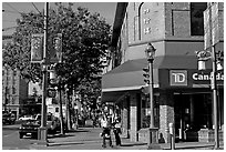 Chinatown street corner. Vancouver, British Columbia, Canada (black and white)