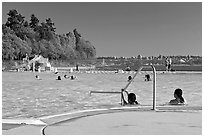 Swimming pool, Stanley Park. Vancouver, British Columbia, Canada ( black and white)