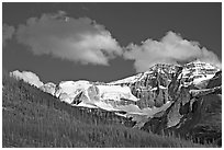 Stanley Glacier, afternoon. Kootenay National Park, Canadian Rockies, British Columbia, Canada ( black and white)