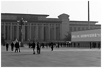 National Museum of China, Tiananmen Square. Beijing, China (black and white)