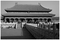 Palace of Heavenly Purity, Forbidden City. Beijing, China ( black and white)