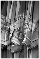 Sani dresses for sale. Shilin, Yunnan, China (black and white)