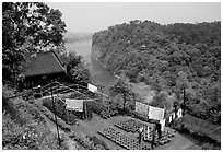 Cultures on Wuyou Hill. Leshan, Sichuan, China ( black and white)