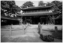 Daxiong temple. Leshan, Sichuan, China ( black and white)