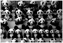 Stuffed pandas for sale. Chengdu, Sichuan, China ( black and white)