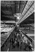Terminal 2, Taiwan Taoyuan International Airport. Taiwan (black and white)