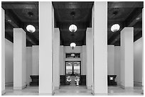 Inside Chiang Kai-shek Memorial Hall. Taipei, Taiwan ( black and white)