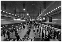 MRT station. Taipei, Taiwan (black and white)
