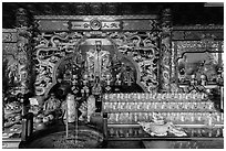 Altar, Guandu Temple. Taipei, Taiwan (black and white)