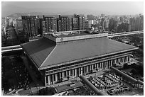 Central station seen from above. Taipei, Taiwan ( black and white)